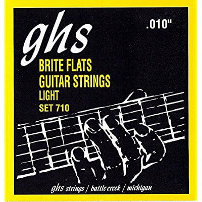 ghs electric guitar strings brite flats lite 10-46 710