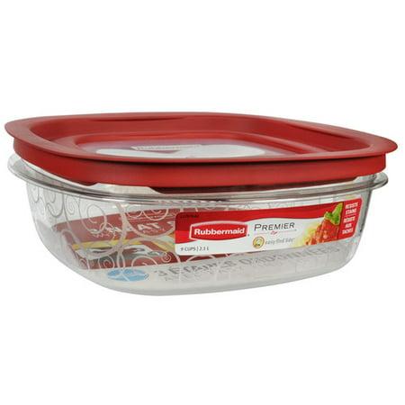 Rubbermaid Premier 9-Cup Square Food Storage Container - Walmart.com