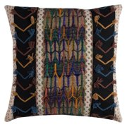 """Rizzy Home Decorative Poly Filled Throw Pillow Tribal 20""""X20"""" Black"""