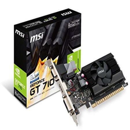 Graphics Card Hdcp Support - MSI Gaming GeForce GT 710 2GB GDRR3 64-bit HDCP Support DirectX 12 OpenGL 4.5 Single Fan Low Profile Graphics Card (GT 710 2GD3 LP)