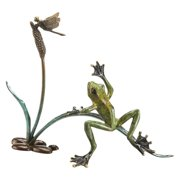 San Pacific International Rainforest Frog with Dragonfly Sculpture