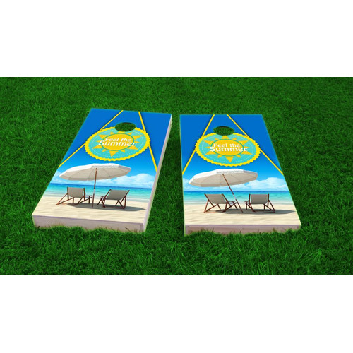 Custom Cornhole Boards Beach Cornhole Game Set by Custom Cornhole Boards
