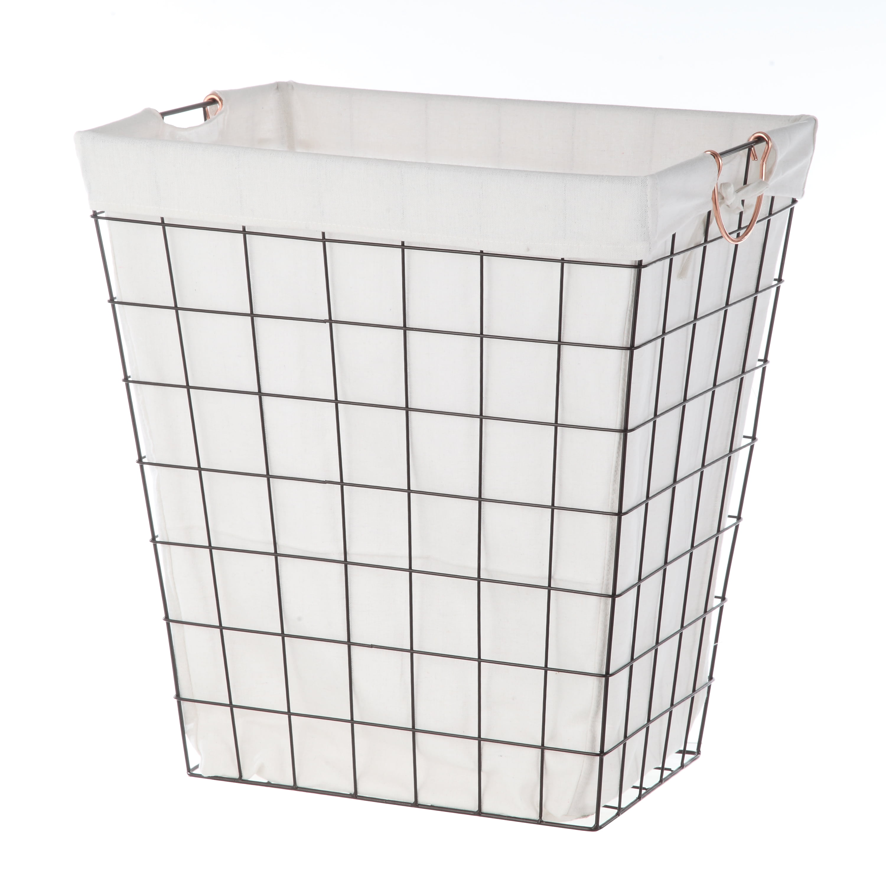 Better Homes & Garden Rectangle Wire Laundry Hamper with Liner