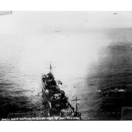 LAMINATED POSTER Imperial Japanese Navy destroyer Ariake under attack of B-25 Mitchells from 3rd Attack Group 5th Air Poster Print 24 x 36