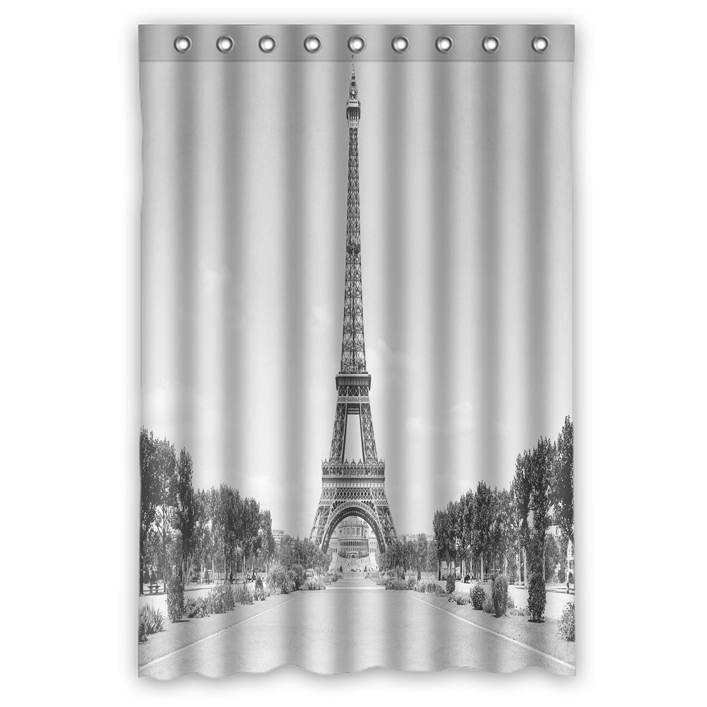 ZKGK Paris Eiffel Tower Waterproof Shower Curtain Bathroom ...