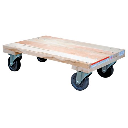 VESTIL HDOS-1624-12 Hardwood Dolly - Solid Deck