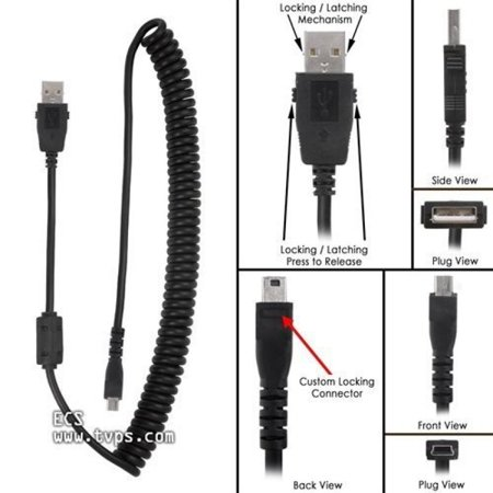 Philips SpeechMike Premium and Touch Replacement Tangle Free USB Curly Cord Cable ()