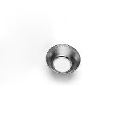 "Gobel Tinned Steel Plain Round Petit Four Mold 1-1/4"" Diam. x 1/2"" High"