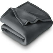 Polar Fleece Cozy Bed Blanket - Hypoallergenic Premium Poly-Fiber Yarns, Thermal, Lightweight Blanket