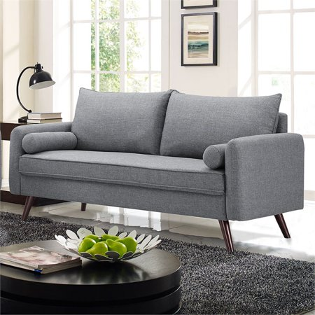 Awesome Lifestyle Solutions Mid Century Modern Design Calden Upholstery Fabric Sofa Grey Home Interior And Landscaping Ologienasavecom