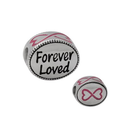 Stainless Steel Forever Loved Oval Charm