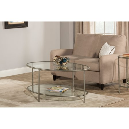 Hillsdale Furniture Corbin Coffee Table with Two (2) Glass Shelves