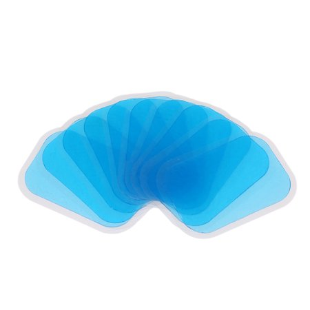 10Pcs Gel Pads For EMS Trainer Abdominal Gel Stickers Fitness Hydrogel For Abdomen Muscle Stimulator Slimming Massage (Comfort Gel Hydrogel)