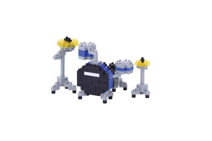 Nanoblock Drum Set Blue by nanoblock