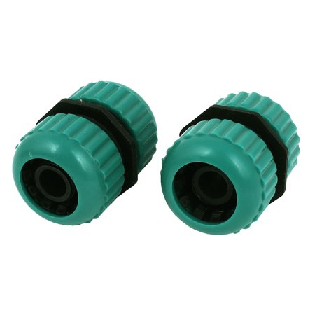 Unique Bargains Plastic Garden 9mm Thread Spray Water Hose Nozzle Connector Green 2 (Plastic Hose Connector)