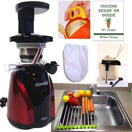 Slowstar Juicer   Pack3  Folding Drain Rack   Nut Milk Bag  Ebook  Cocodrill Coconut Tool  Peeler Tribest Mincer Sw 2000