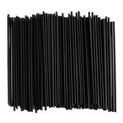"600ct Stirring Straws Sip Coffee Cocktail Mix Black Plastic Stirrer Sticks 5.25"""