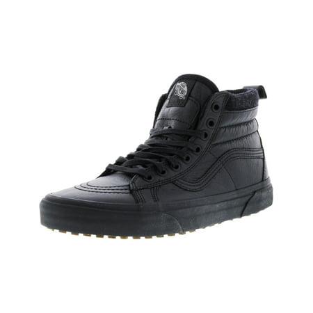 Vans - Vans Sk8-Hi Mte Black   Leather Mid-Top Fabric Fashion Sneaker - 9M  7.5M - Walmart.com a7c5dc95d