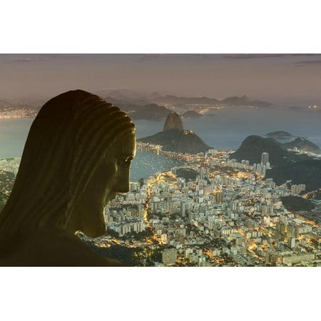 Head of Statue of Christ the Redeemer, Corcovado, Rio De Janeiro, Brazil, South America Print Wall Art By Angelo Christ Redeemer Statue Rio