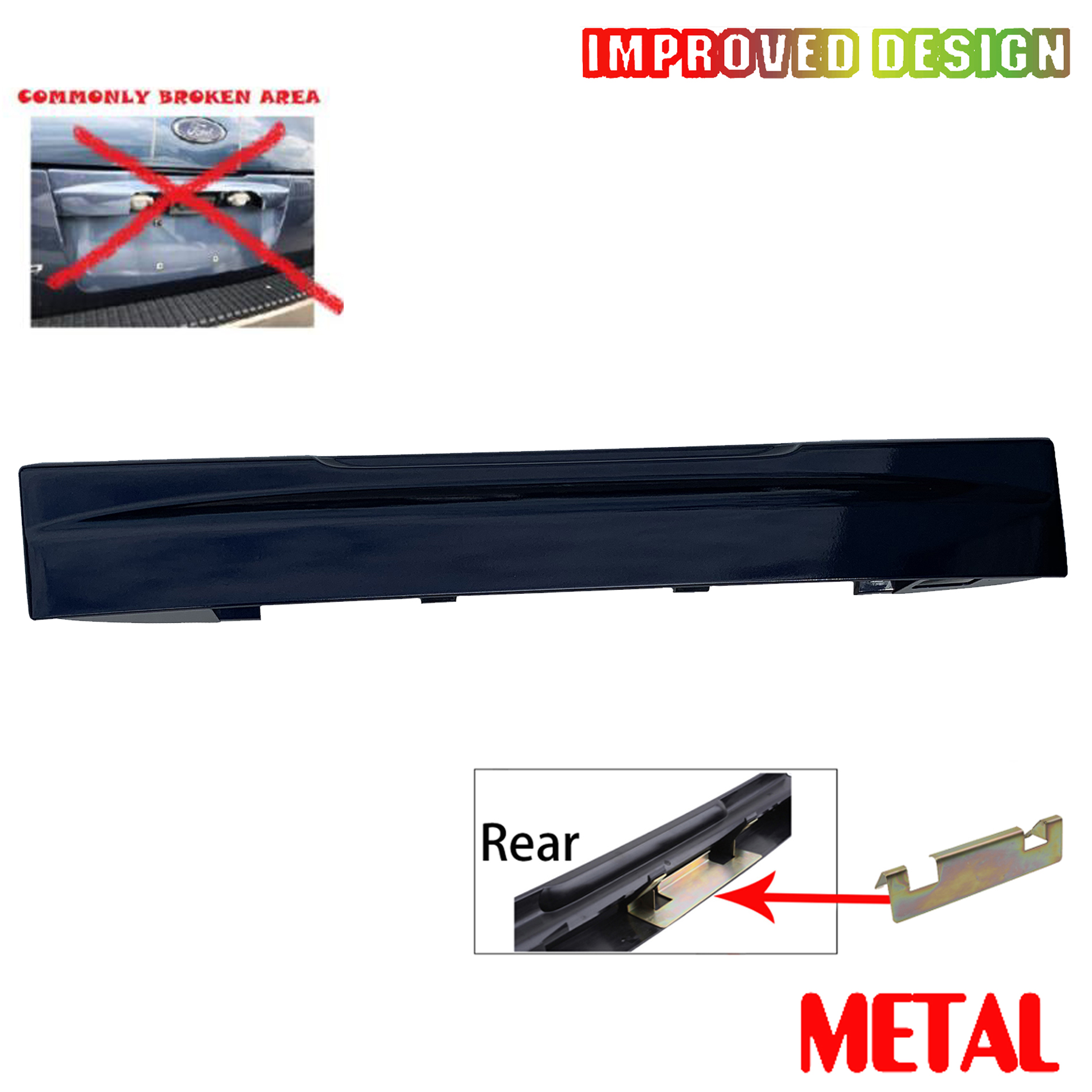 Tailgate License Plate Shield Handle Metal Bracket Rear For 02 Ford Explorer New