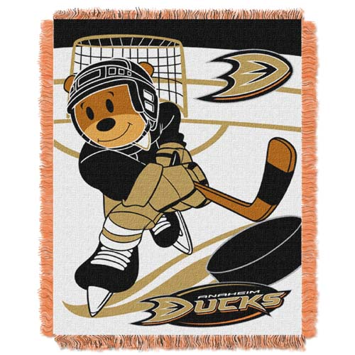 Anaheim Ducks Jacquard BABY Throw Blanket
