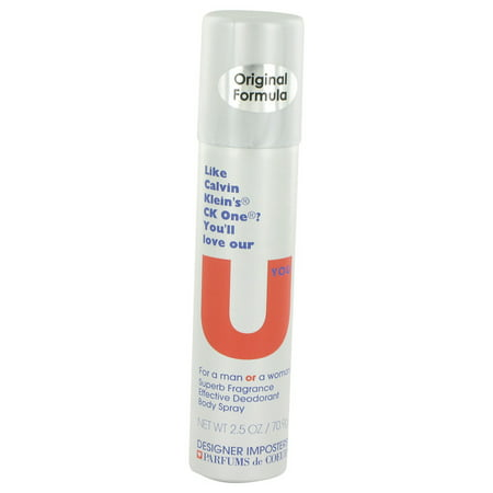 Designer Sampler (Designer Imposters U You Body Spray (Unisex), 2.5 oz. )