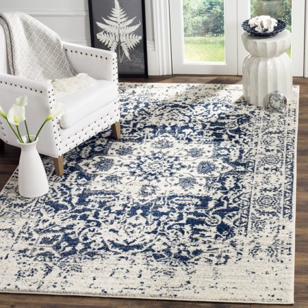 Safavieh Madison Katina 4 X 6 Power Loomed Area Rug  Cream Navy
