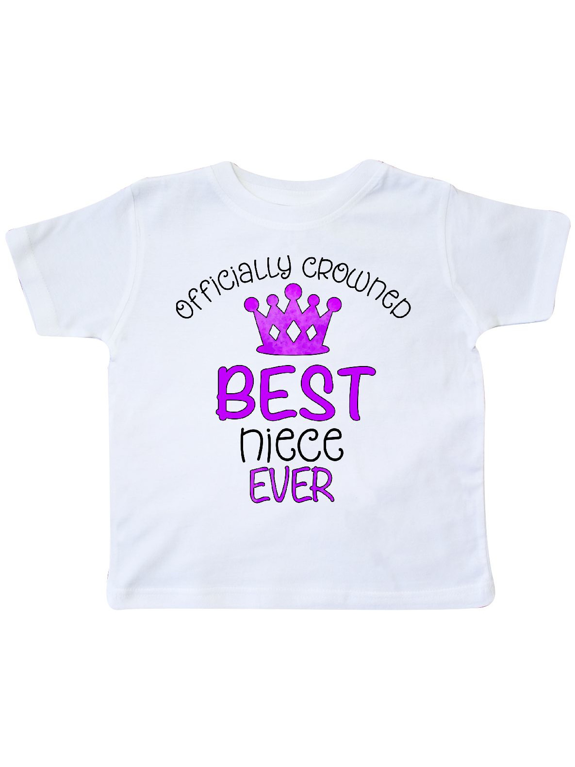 inktastic Officially Crowned Best Niece Ever Purple Crown Toddler T-Shirt