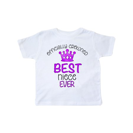 Officially Crowned Best Niece Ever purple crown Toddler