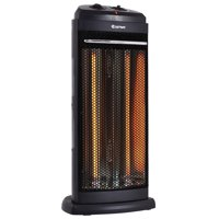 Costway Heating Radiant Fire Tower Infrared Quartz Heater