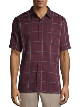 George Men's and Big Men's Short Sleeve Microfiber Shirt