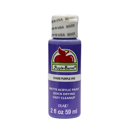 Apple Barrel Matte Finish Acrylic Craft Paint by Plaid, Purple Iris, 2 oz.