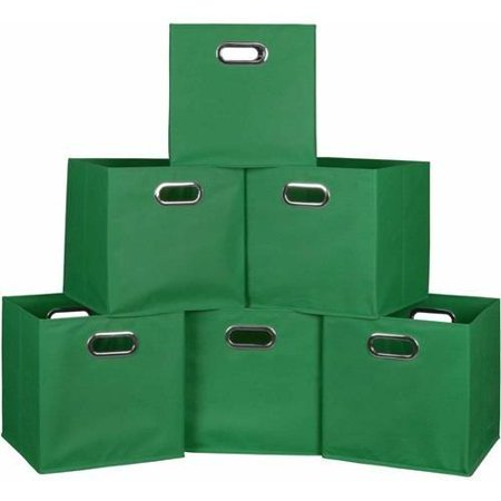Niche Cubo Set of 3 Foldable Fabric Storage Bins, Set of 6, Multiple Colors by
