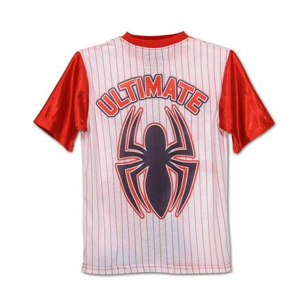 Boys Spiderman Baseball Jersey 2-piece Pajama Sleepwear ...