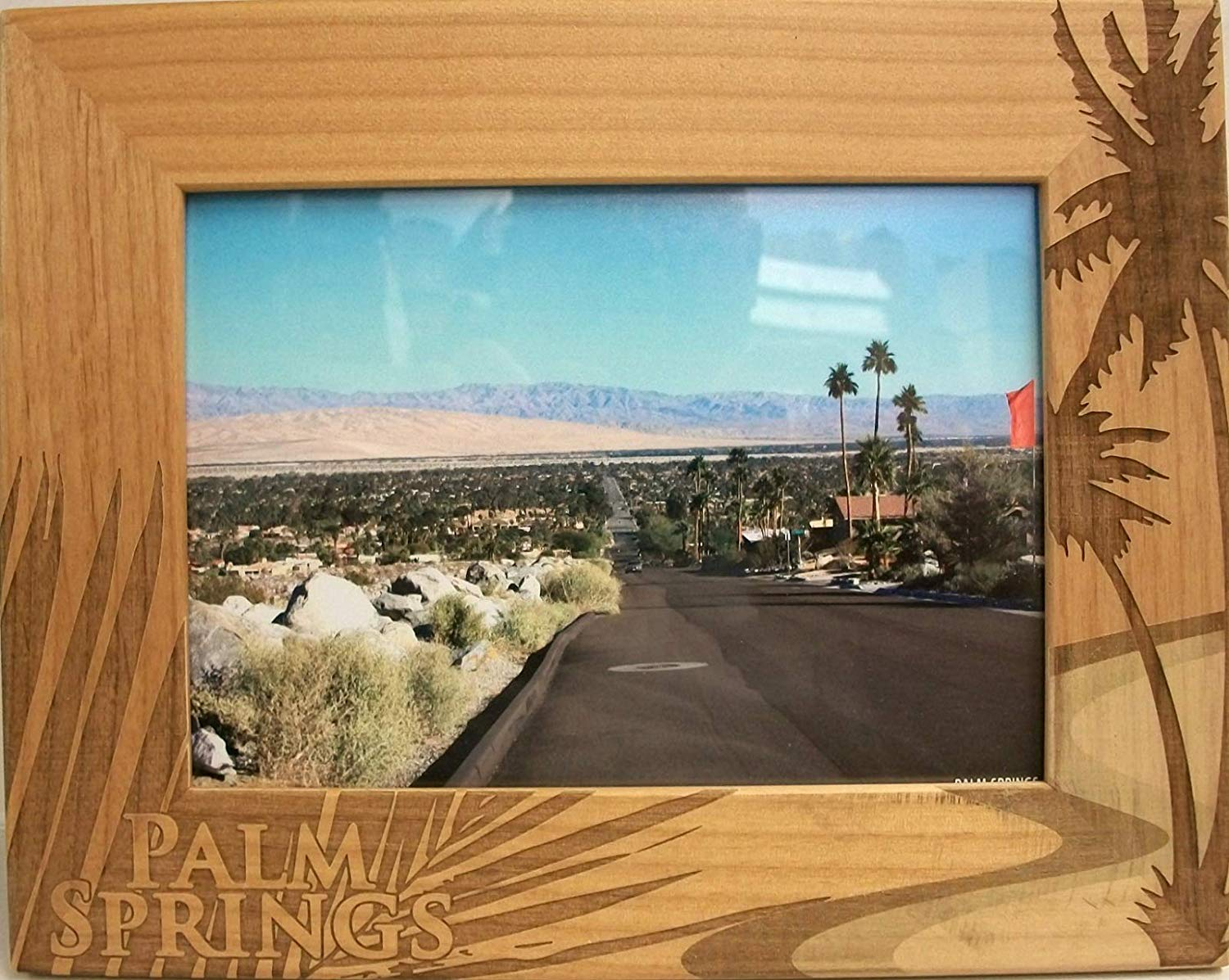 Faux Wood Split Photo Frame 3 Colors Engrave between the pictures anything you would like.