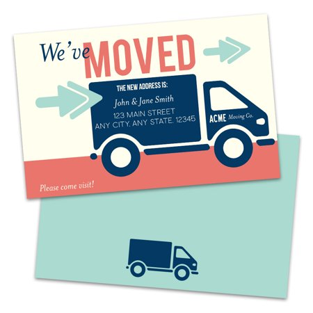 Personalized Moving Truck Moving Announcements (Moving Party Invitations)
