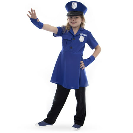 Boo! Inc. Proud Police Officer Children's Halloween Costume | Policewoman Dress Up (Police Dress Up Costume)