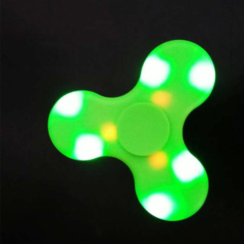 LED Flashing Fidget Spinner Light Up EDC Stress ADHD Autism Kids Toy Gift WHITE