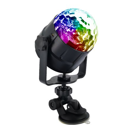 15 Colors LED USB Car DJ Disco Ball Lumiere 5W Sound Activated Projector RGBP Stage Lighting Effect Lamp Light Music Christmas KTV Party - image 4 de 7
