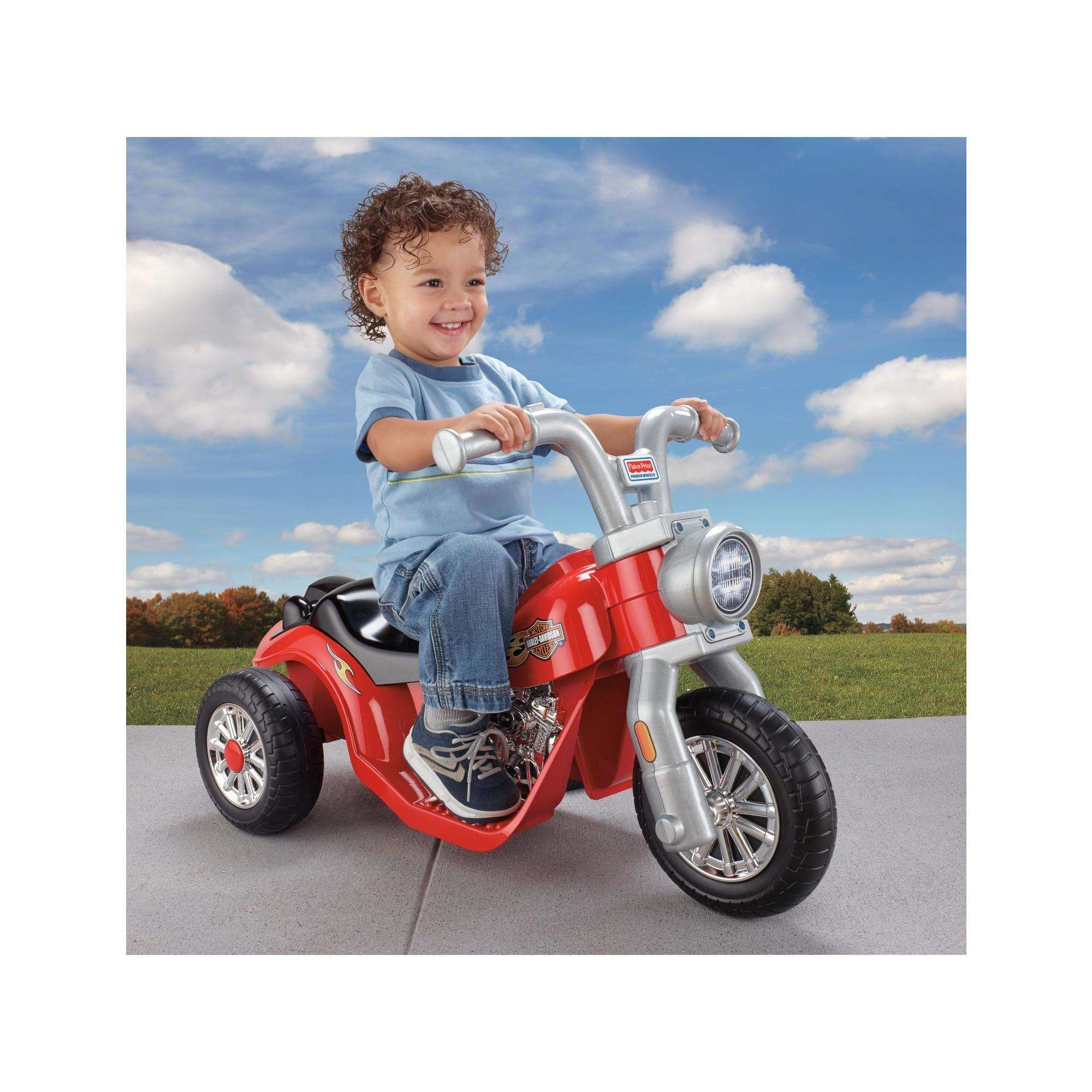 power wheels harley-davidson lil' harley 6-volt battery-powered