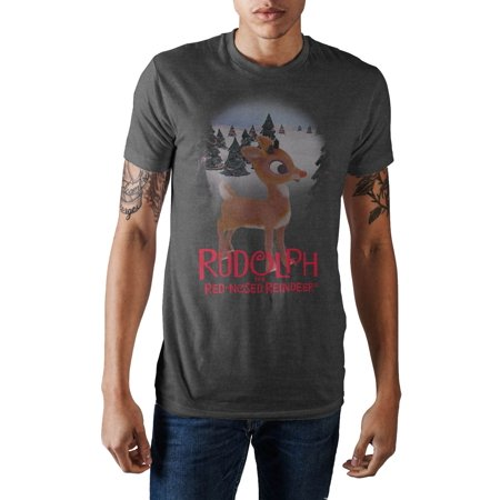 Nose Art Tee (Rudolph The Red Nose Reindeer T-Shirt Large Christmas Tee-Large)