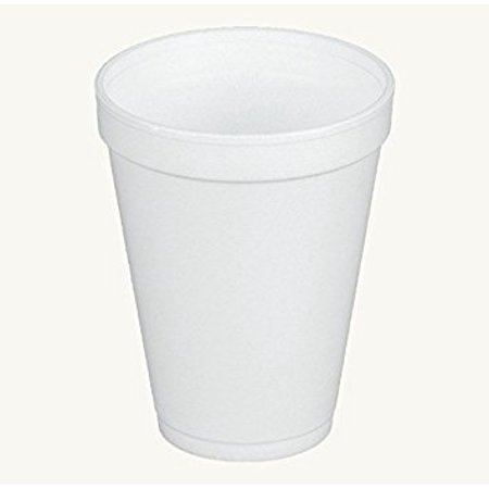 Dart 12J12, 12 Oz. White Foam Cup with White Lift'n'Lock Plastic Cup Lid, Customizable Disposable Hot and Cold Drink Beverage Tea Coffee Cups (50)](Customizable Cups)