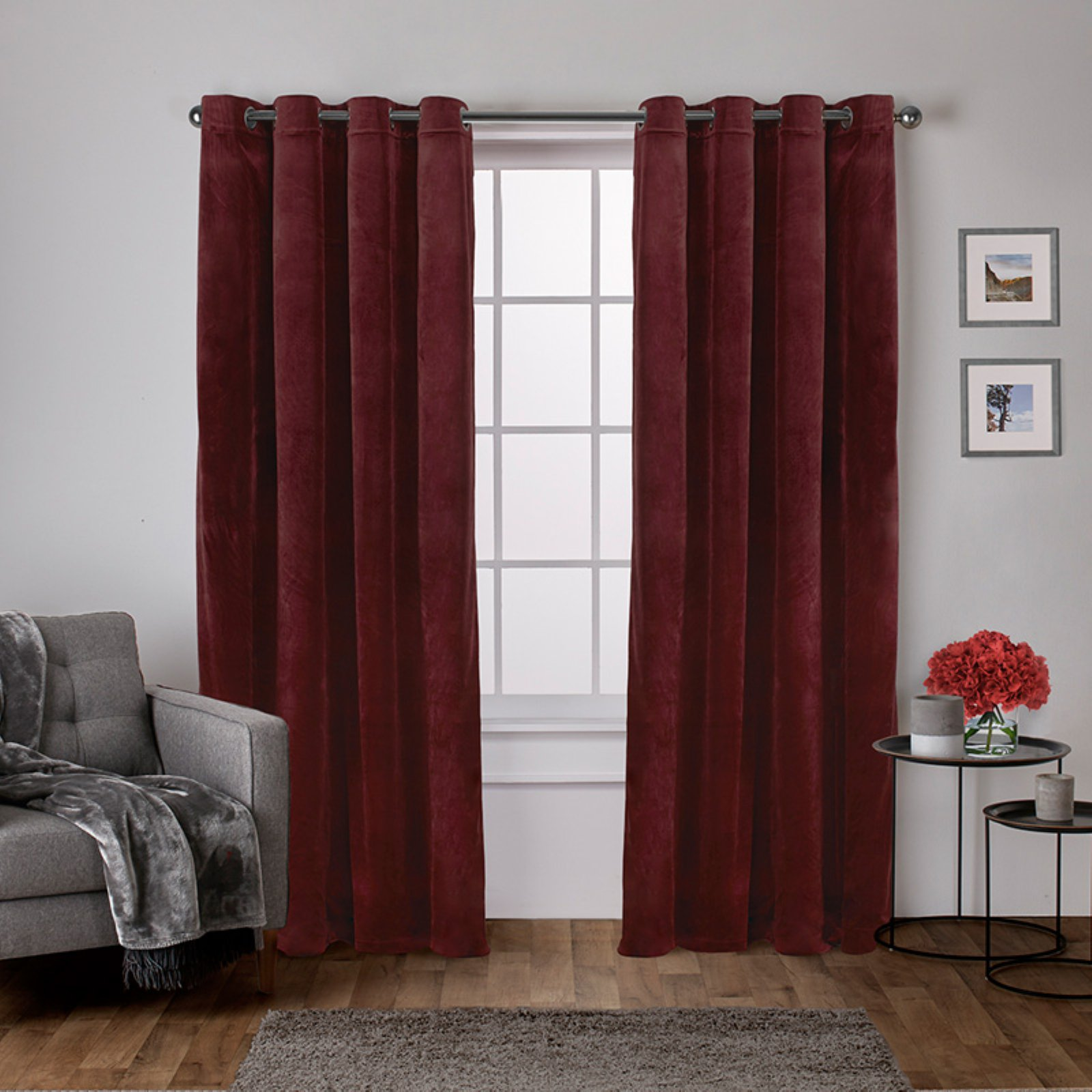 Exclusive Home Curtains 2 Pack Velvet Heavyweight Grommet Top Curtain Panels