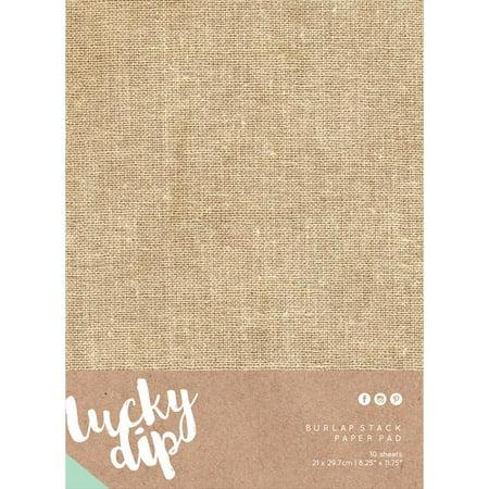 Lucky Dip Burlap Stack Paper Pad, 8.25