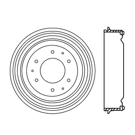 OE Replacement for 1966-1966 GMC K1000 Rear Brake Drum