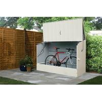 Trimetals 6' x 3' Cream Heavy Duty Steel Bicycle Storage Locker