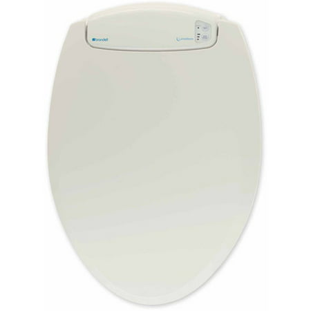 Biscuit Vitreous China Toilet - LumaWarm Heated Nightlight Toilet Seat, Biscuit