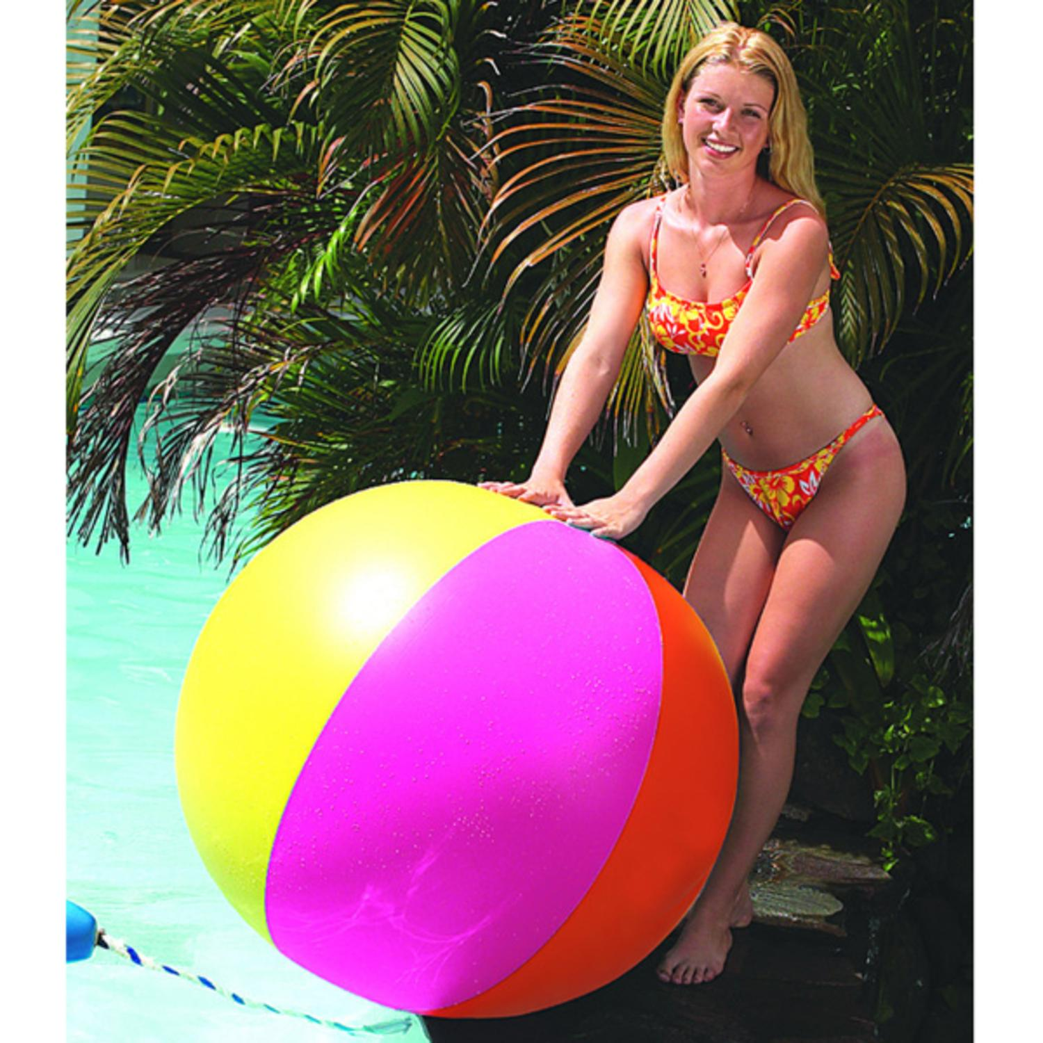 """48"""" Classic Inflatable Multi Color Swimming Pool or Beach Ball"""