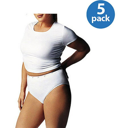 cb68e1df357 Just My Size - Women s Cotton Tagless Hi-Cut Panties 5-Pack - Walmart.com