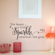 Belvedere Designs LLC She Leaves A Sparkle Wall Quotes  Decal